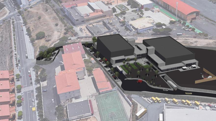 Maqueta virtual de los platós cinematográficos que el Cabildo de Gran Canaria construye junto a Infecar.