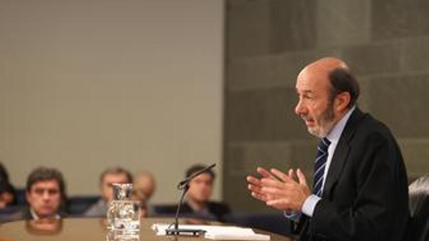 Ministro del Interior, Alfredo Pérez Rubalcaba