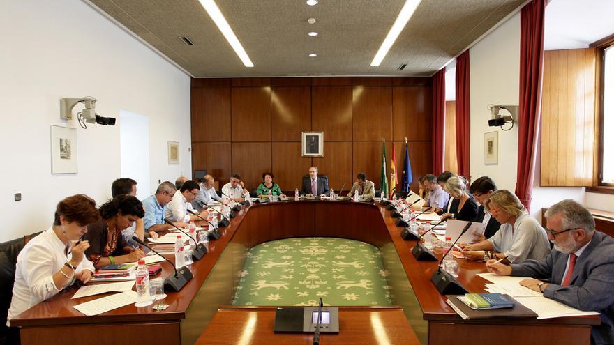 Junta de portavoces del Parlamento de Andalucía.