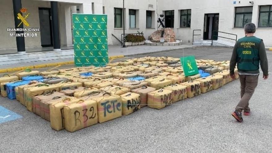 8 detenidos en una operación en la que han incautado 5 toneladas de hachís
