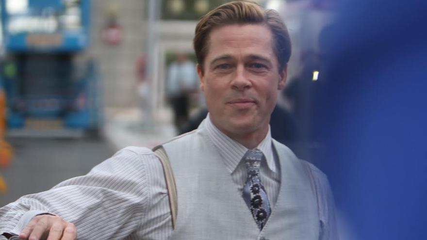 Brad Pitt, en la Plaza de Manuel Becerra. (ALEJANDRO RAMOS)
