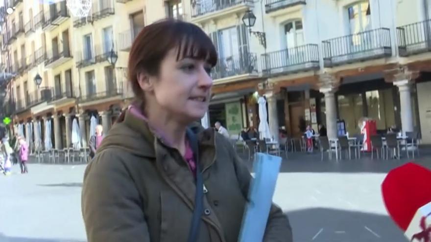 La candidata de Vox en Teruel, ante las cámaras de 'Todo es mentira'