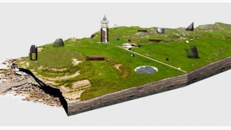 Propuesta de parque escultórico en el entorno del faro de Ajo.
