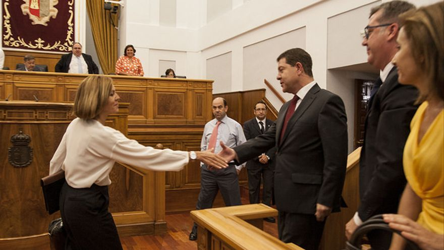 Cospedal felicita a García-Page tras ser investido presidente / Foto: PSOE