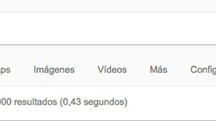 Entradas en Google a la palabra 'vegano'.