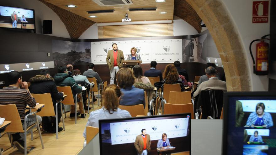 Presentación de los presupuestos 2016 en la Diputación de Cáceres