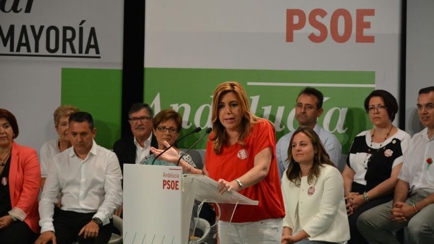 """Díaz avisa de que si """"sigue el obstruccionismo"""" hará lo que dice Estatuto andaluz"""