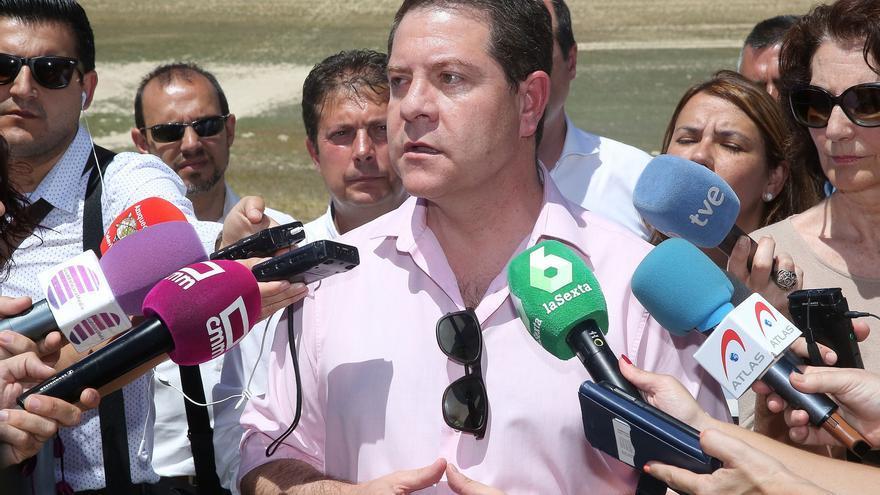 García-Page en una reciente visita a Guadalajara