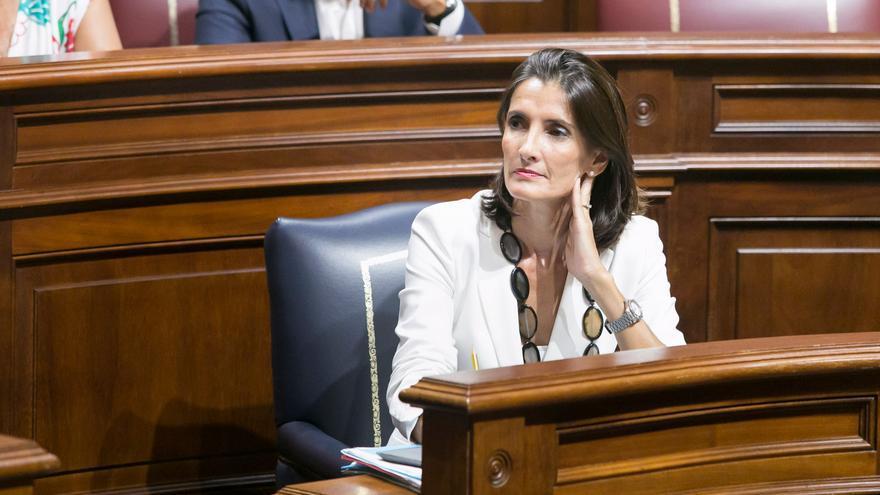 La consejera de Turismo del Gobierno de Canarias, María Teresa Lorenzo