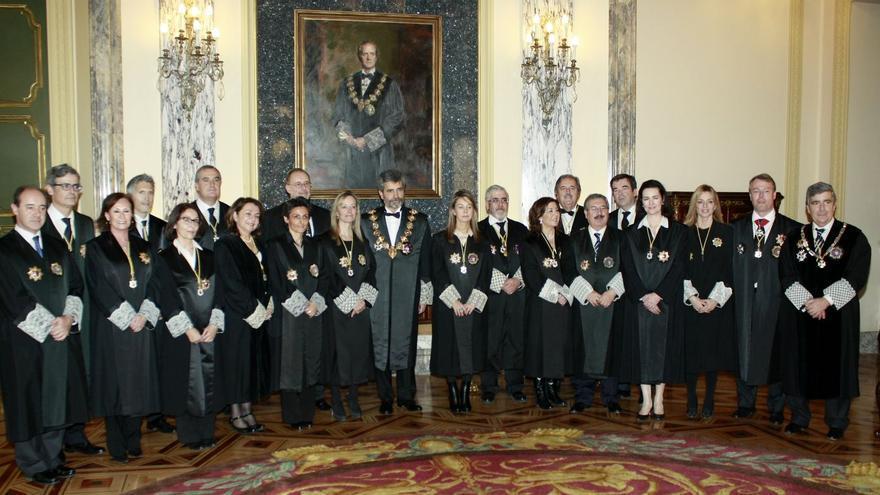 Toma de posesión de los vocales del VII Mandato del CGPJ, en diciembre de 2013.