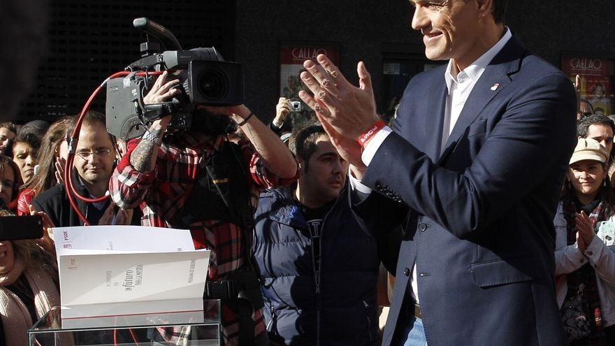 """Pedro Sánchez cree que Iglesias propone un referéndum en Cataluña porque """"sabe que no va a ganar las elecciones"""""""
