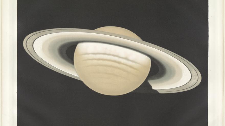Dibujo del planeta Saturno observado el 30 de noviembre de 1874