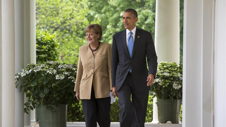 Obama recibirá a Merkel con la guerra de Ucrania como acuciante reto común