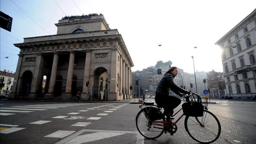 Milán llega a su tercer día sin tráfico sin lograr reducir su contaminación