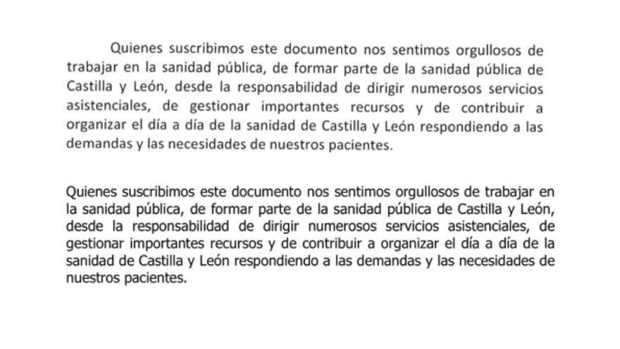 La Junta de Castilla y León 'recicla' el manifiesto 'espontáneo' que escribió el consejero de Sanidad y lo coloca como comunicado del Hospital de Segovia