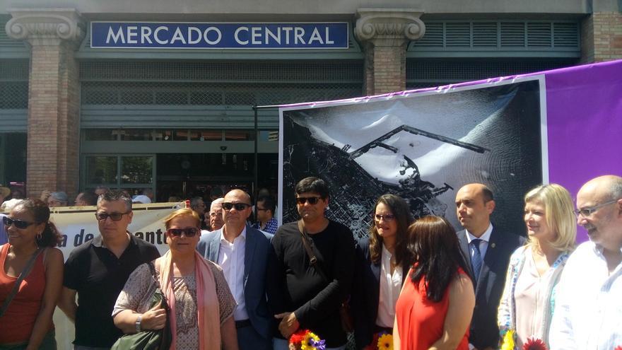 Mónica Oltra ha participado este sábado en el homenaje a las 300 víctimas del bombardeo del Mercado Central por la aviación fascista italiana