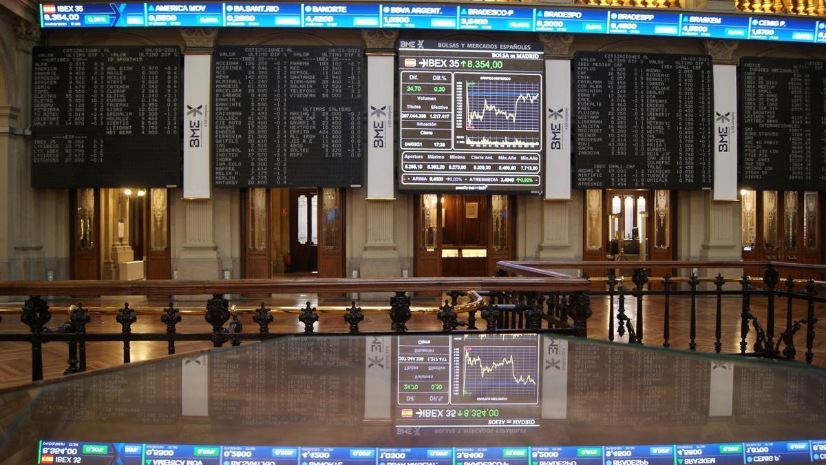 En la imagen, la Bolsa de Madrid. EFE/Esther Egea/Archivo