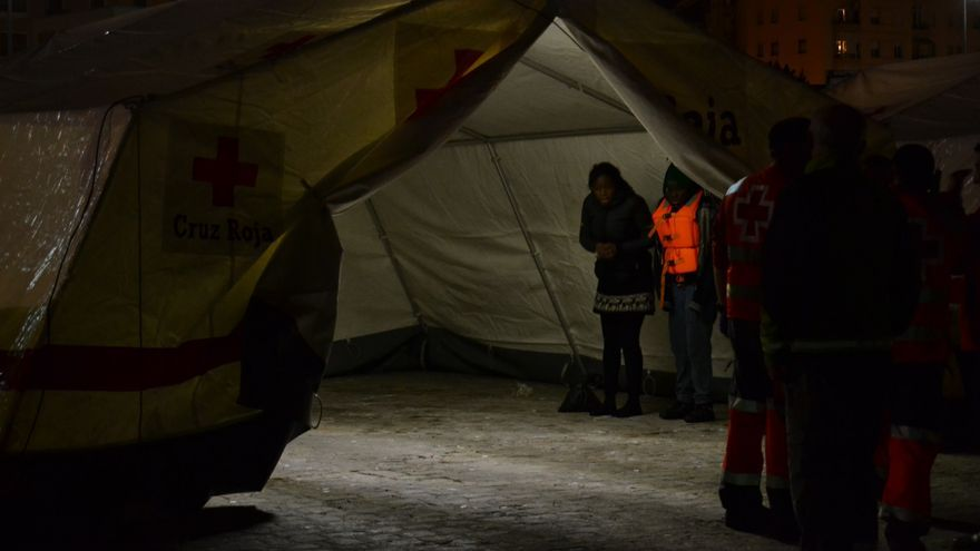 Imagen de la llegada de migrantes al Puerto de Málaga el pasado 26 de febrero | N.C.