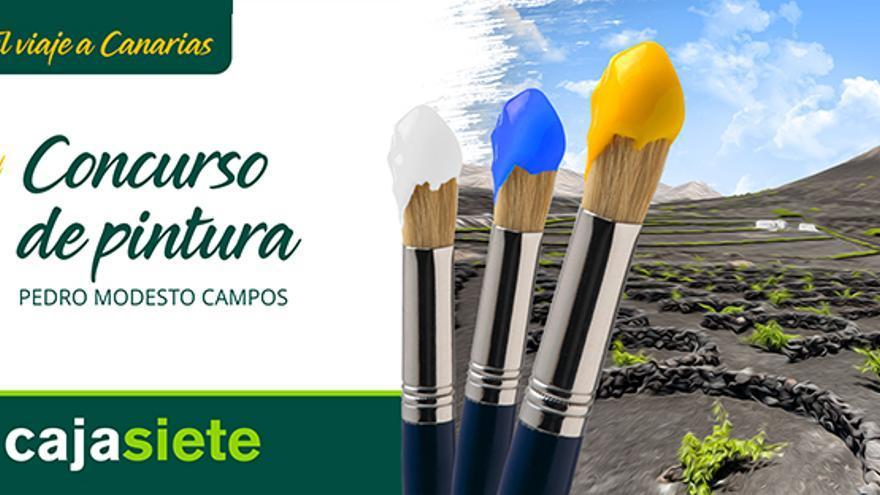 Cartel promocional del certamen de pintura de la fundación de Cajasiete