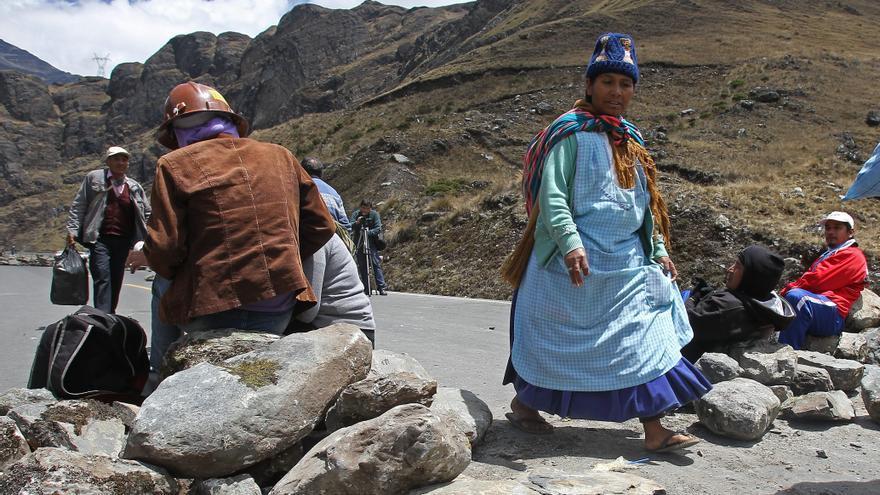 Apoyo parcial a la huelga de 72 horas en Bolivia por la mina Colquiri
