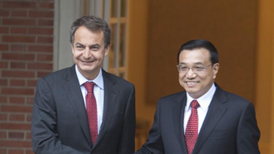 Viceprimer ministro chino, Li Keqiang, y el presidente del Gobierno, José Luis R
