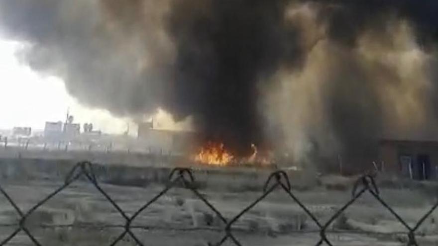 Imagen del incendio de este lunes