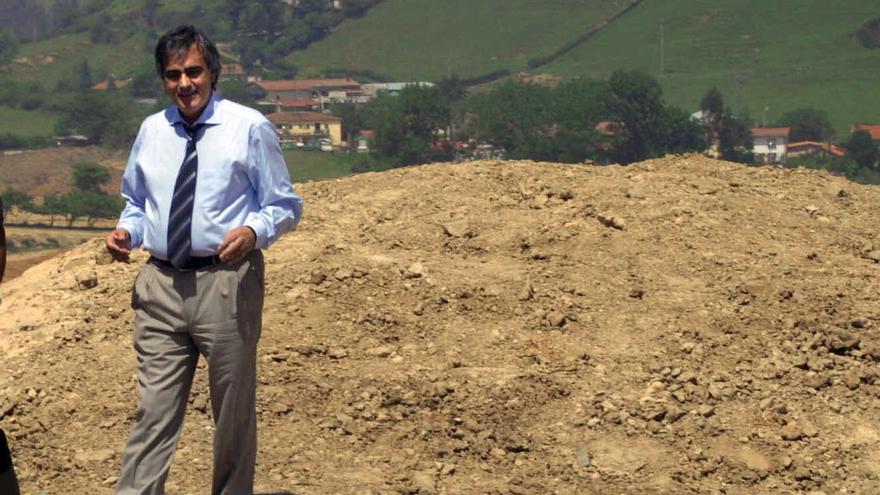 Juan Cruz Nieves, en un acto cuando era diputado foral de Urbanismo de Bizkaia.