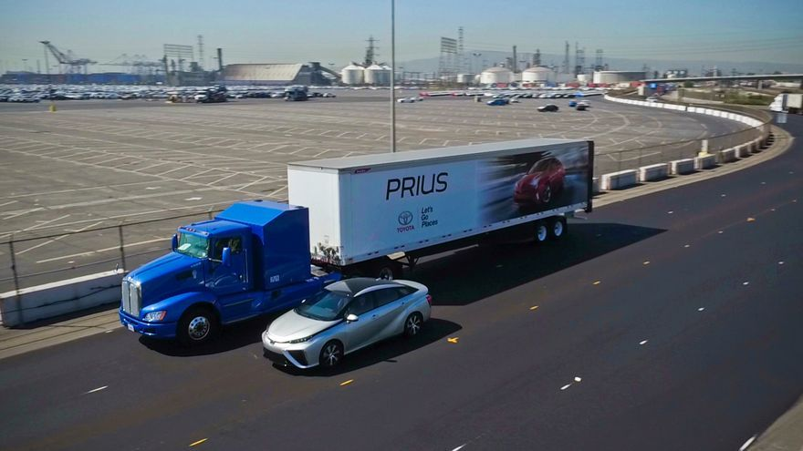 El prototipo de camión de gran tonelaje del 'Proyect Portal' de Toyota.