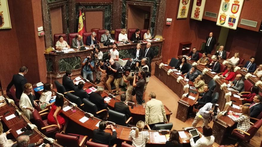 La Asamblea Regional durante la investidura fallida de López Miras