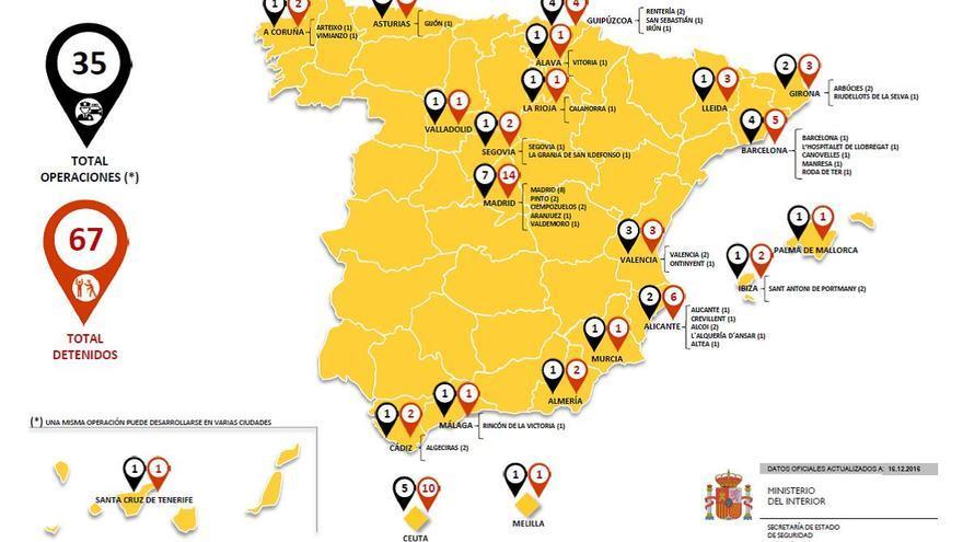 Detenidos por yihadismo en España desde 2012
