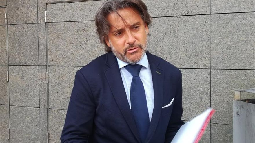 Gustavo Matos, en los juzgados de La Laguna, donde ha declarado como testigo en el caso Grúas