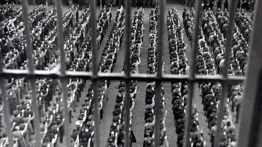 Imagen de los presos dentro de la cárcel