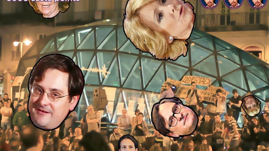 Uno de los niveles de 'Pablo Iglesias - Casta Wars', ambientado en la madrileña Puerta del Sol
