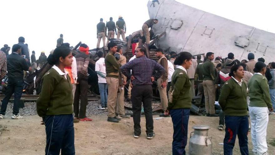 Se elevan a 138 los muertos y a 200 los heridos en un accidente de tren en la India