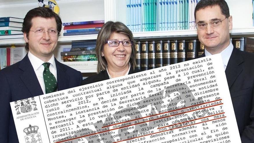 Archivo de la causa contra el director de Ordenación Forestal, Tomás Fernández-Couto (derecha), que aprecia ilegalidad pero no prevaricación
