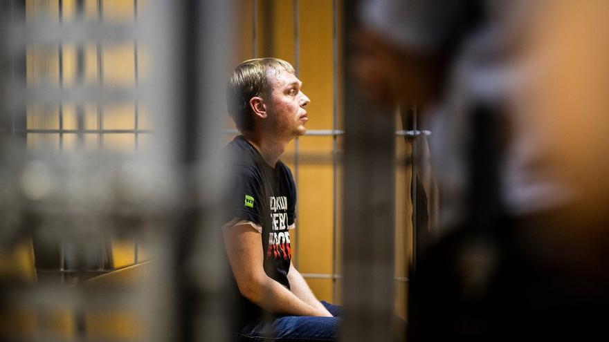 Ivan Golunov durante su estancia en prisión.