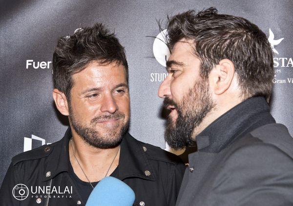 Pablo López y Antonio Orozco en los III Premios Chicote | Fotografía: UNEALAI