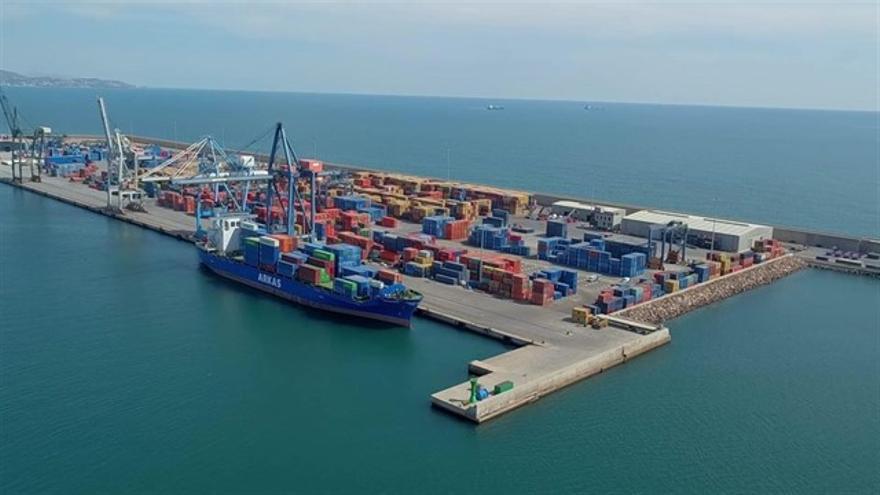 Vista aérea del puerto de Castellón