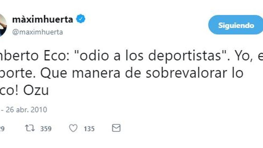 Tuit de Máxim Huerta