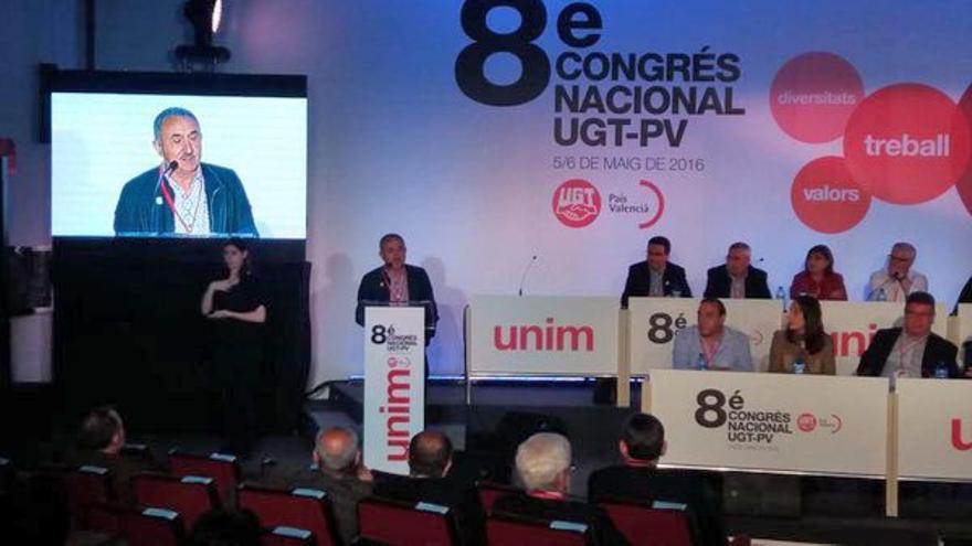 El secretario general de UGT, José María Álvarez,interviene en el VIII congreso de UGT-PV