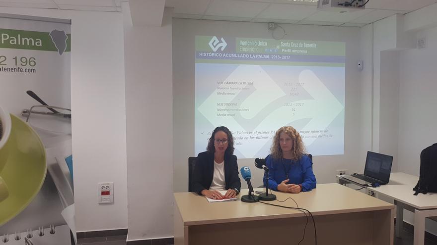 Cristina Hernández y Raquel Díaz en rueda de prensa.