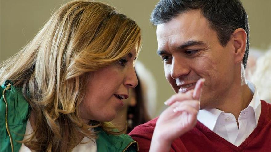 Susana Díaz y Pedro Sánchez, en 2015.
