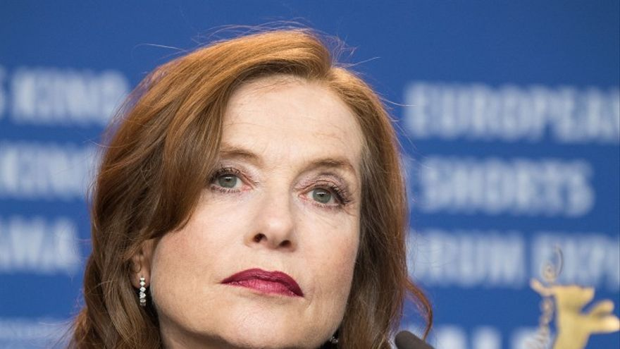 La actriz francesa Isabelle Huppert, durante la rueda de prensa de 'Eva' en la Berlinale