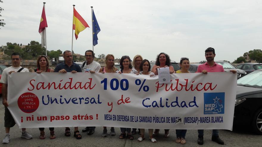Miembros de la Marea Blanca estatal en las Cortes de Castilla-La Mancha
