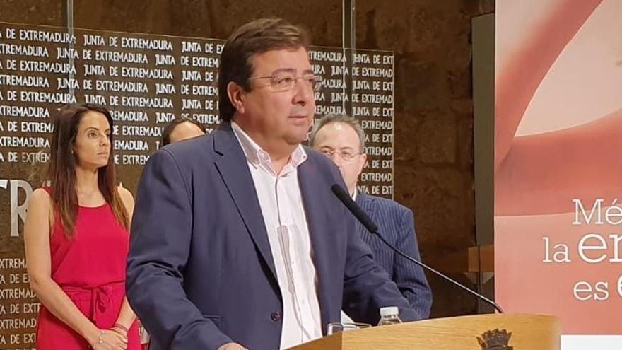 """Vara utilizará el """"amplio respaldo"""" obtenido en las urnas para reivindicar que """"Extremadura tenga lo que se merece"""""""
