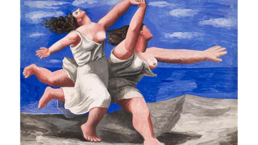 Dos mujeres corriendo por la playa (Pablo Picasso-1922)