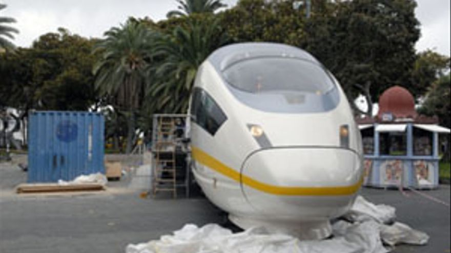 Maqueta del tren de Gran Canaria. /CANARIAS AHORA)