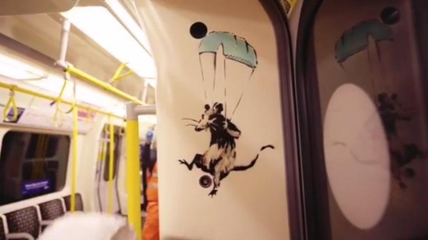 Fotograma del vídeo publicado por Banksy