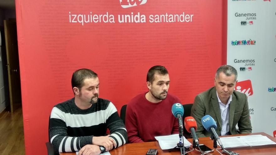Roberto Fernández, Martín Chaves y Miguel Saro en rueda de prensa.