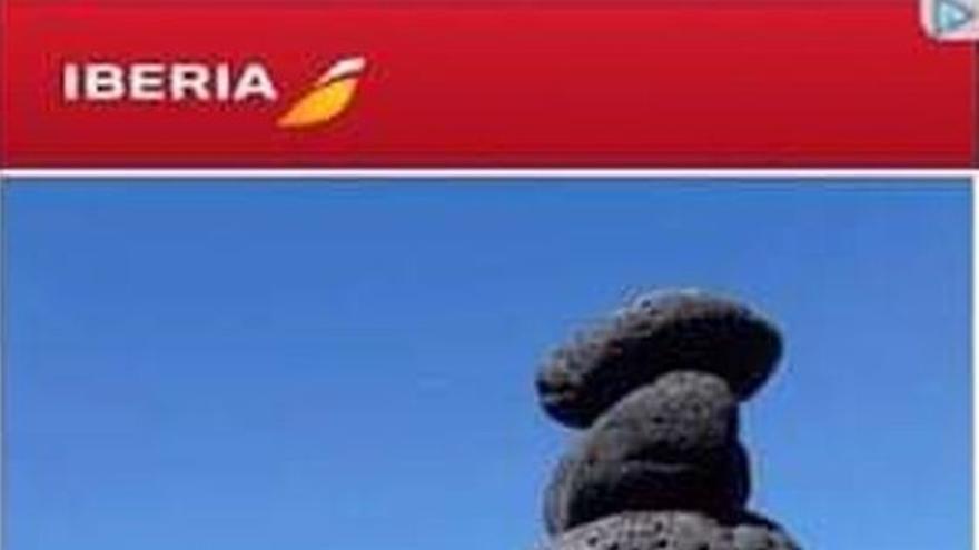 imagen del anuncio de Iberia de un vuelo a La Palma.
